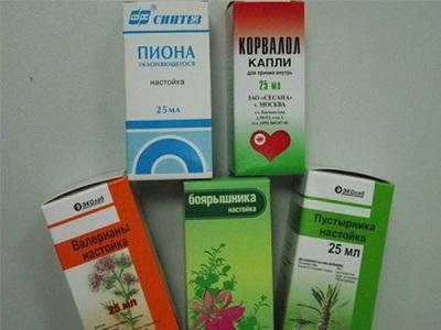 Спиртовые настойки в аптечной упаковке