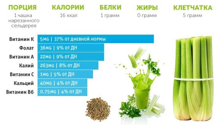 Листовой сельдерей полезные свойства и противопоказания